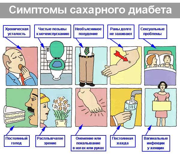 симптомы диабета, признаки диабета - диагностика диабета, диабет